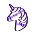 unicorn_face_close_eyes.stl Download STL file UNICORN COOKIE CUTTER • Object to 3D print, Blop3D