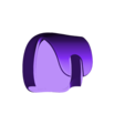 Hex3D_ToiletBrush_FloorHolder.stl Download free STL file Hairy Disposable Toilet Brush • 3D printer object, Geoffro