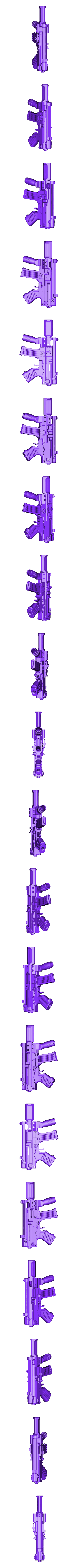 ZOMBIE_SLAYER_SMG_COMBINED_V8.stl Download free STL file ZOMBIE SLAYER PDW • 3D printing object, MuSSy