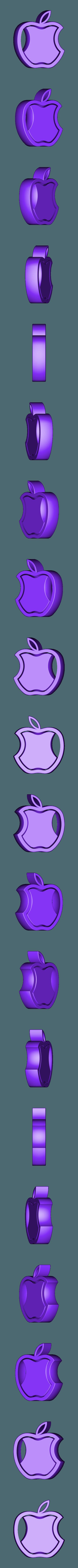 logo_apple.stl Download free STL file APPLE logo - pendant • 3D print template, NOP21