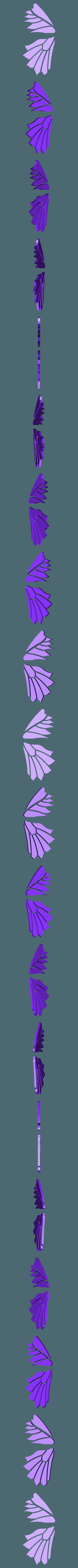 léments_aile_gauche.stl Download free STL file Blue Butterfly • 3D print design, NOP21