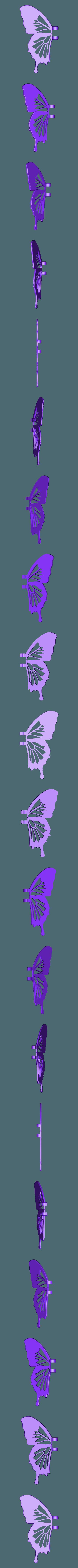 aile_gauche.stl Download free STL file Blue Butterfly • 3D print design, NOP21