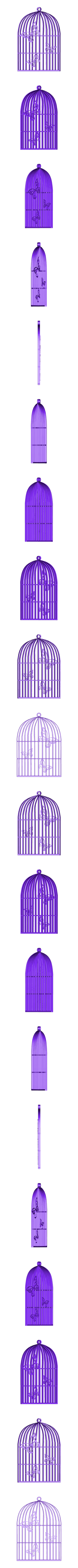 Pendentif Cage Papillon.STL Download 3DS file Butterfly Cage Pendant • 3D printing design, emilie3darchitecture