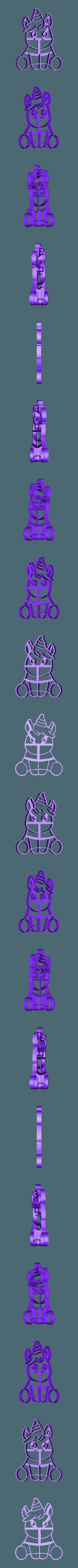 unicornio bb interior.stl Download STL file unicorn cookie cutter unicorns • 3D print model, PatricioVazquez