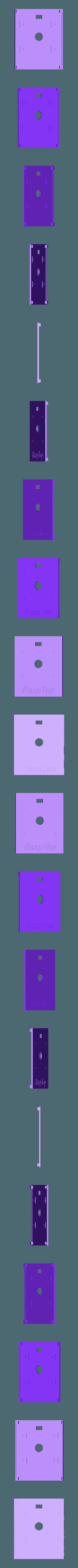 RaspTop_TOP.stl Download free STL file RaspTop • 3D printable template, EricsDIY