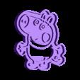 george pig_cut.stl Download STL file George Pig CUT Dinosaurs • 3D printable template, Blop3D