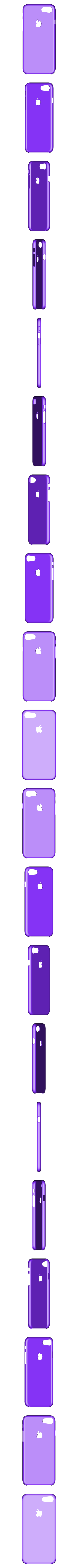 Iphone7Case-Low_Profile_AppleLogo.stl Download free STL file iPhone 7 and 7Plus Cases - Ultra Thin Rigid • 3D printing model, DuaneIndeed