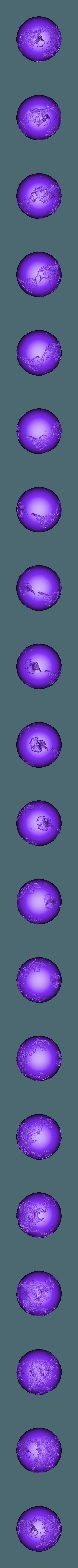 12cm_more_contrast.STL Download free STL file Spherical Lithophane - World Map 12cm remix • 3D printable object, Domi1988