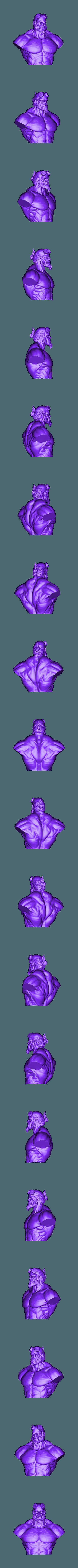 Hellboyhead.stl Download STL file HELLBOY 2019 • 3D printable model, Bstar3Dart