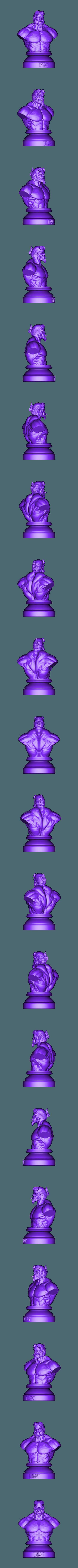 HELLBOYBUST148x200x114.stl Download STL file HELLBOY 2019 • 3D printable model, Bstar3Dart