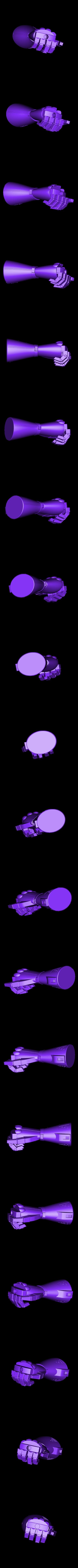 glove.stl Download STL file robocop hand with stand / mano de robocop con stand • 3D printer design, MLBdesign