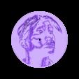 tupacreloj.stl Download free STL file Tupac Clock • 3D printable template, 3dlito