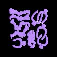 Part 1.stl Download free STL file Triceratops 3D Puzzle Construction Kit • 3D printing template, Alsamen