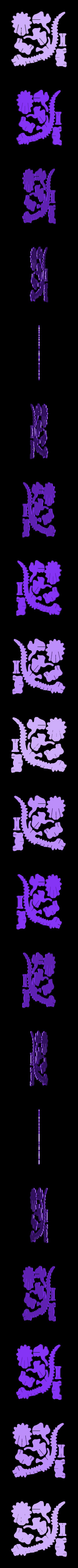 Part 2.stl Download free STL file Triceratops 3D Puzzle Construction Kit • 3D printing template, Alsamen