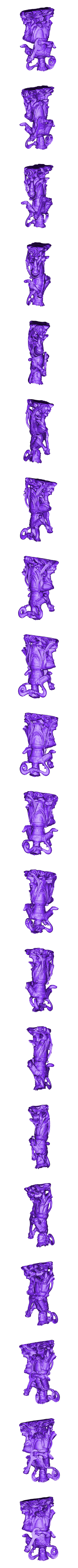 120120.stl Download free STL file 4 Guardians on South Gate of Heaven Palace • 3D printable template, stronghero3d