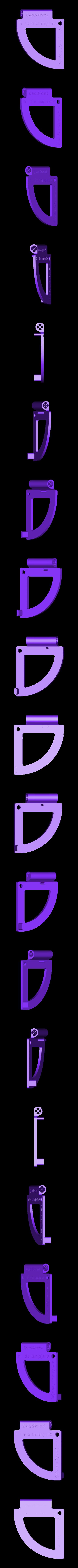 Quadrant_top.stl Download free STL file Quadrant (Sexstant predecessor) - Celestial navigation - NO Supports • 3D printing design, Mirketto