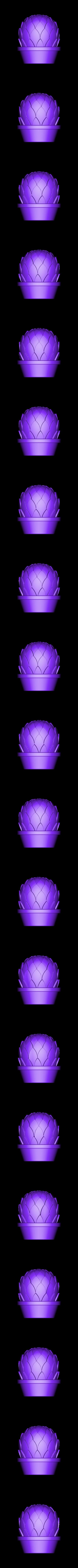arti1+shortpot.stl Download free STL file Small potted succulents • 3D printing model, tone001