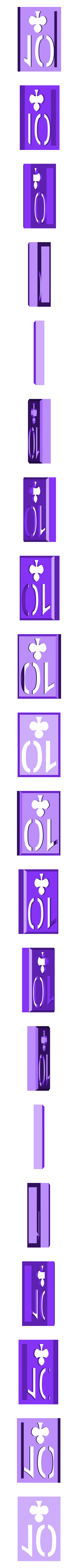 BlockClubs10.stl Download STL file Playing Card Tiles • Object to 3D print, Jinja