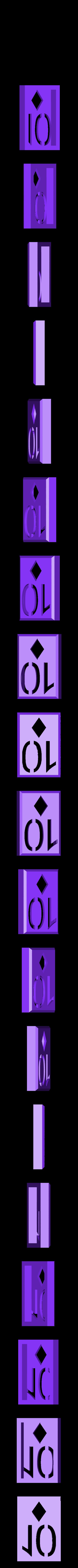 BlockDiamonds10.stl Download STL file Playing Card Tiles • Object to 3D print, Jinja