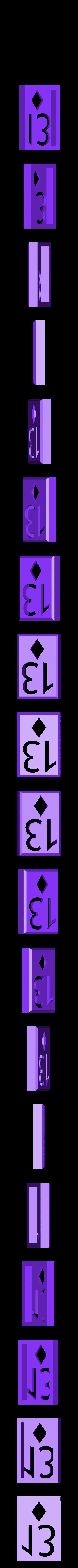 BlockDiamonds13.stl Download STL file Playing Card Tiles • Object to 3D print, Jinja