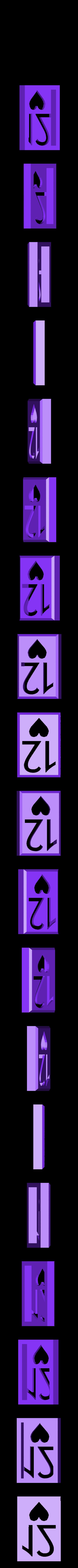 BlockHearts12.stl Download STL file Playing Card Tiles • Object to 3D print, Jinja
