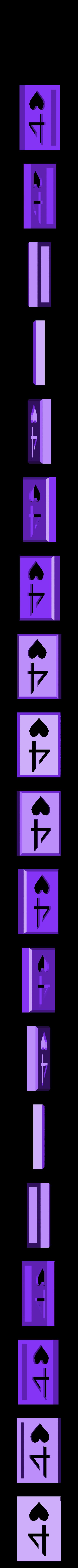 BlockHearts04.stl Download STL file Playing Card Tiles • Object to 3D print, Jinja