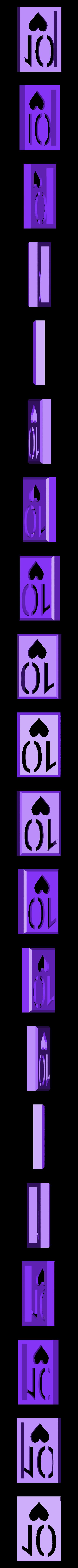 BlockHearts10.stl Download STL file Playing Card Tiles • Object to 3D print, Jinja
