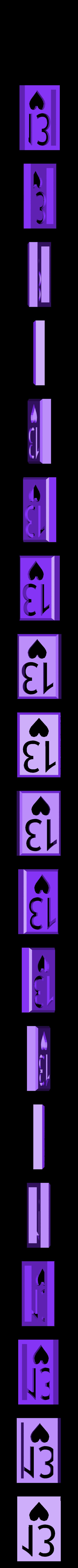 BlockHearts13.stl Download STL file Playing Card Tiles • Object to 3D print, Jinja