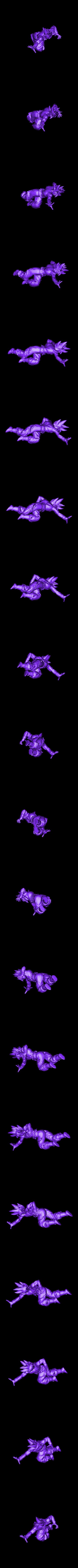PM3D_goku pose_1.stl Download STL file GOKU ULTRA INSTINCT COMPLETE POSE • 3D printing model, adrian5