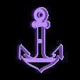 cortante ancla.stl Download STL file cortante galletas ancla y timon, cookies cutter anchor and  rudder • 3D printer object, abauerenator