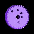 gear_36.stl Télécharger fichier STL gratuit Usine de fabrication d'engrenages pour machine Spiro • Modèle pour imprimante 3D, ferjerez3d