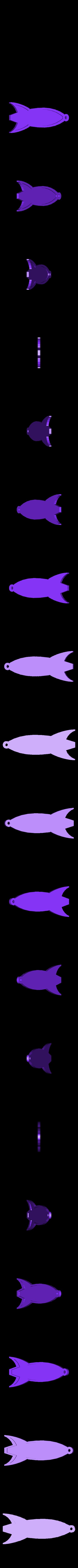 blank_rocket_keychain.stl Download free STL file Customizable Futurama Rocket With Alien Text • 3D printer model, ferjerez3d
