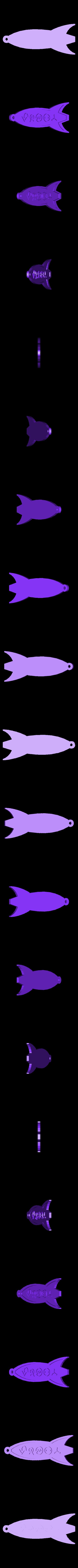 futu_keychain_print.stl Download free STL file Customizable Futurama Rocket With Alien Text • 3D printer model, ferjerez3d
