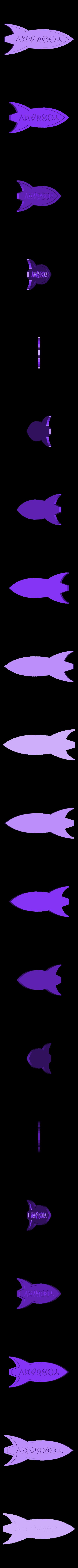 futu_3dprint.stl Download free STL file Customizable Futurama Rocket With Alien Text • 3D printer model, ferjerez3d