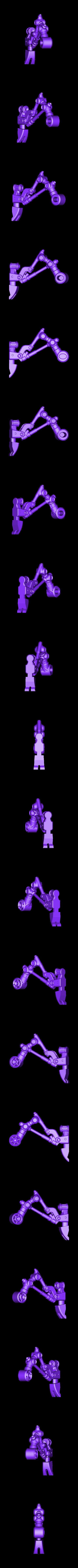 leg-left.stl Télécharger fichier STL gratuit Marcheur de déchets • Design à imprimer en 3D, ferjerez3d