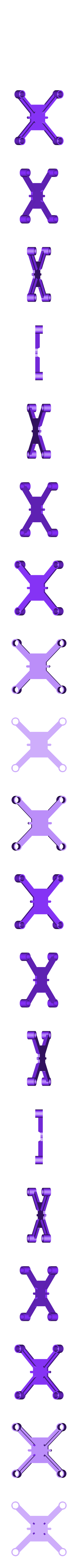 dronedrame_6mm_motors_lite.stl Download free STL file Drone Frame for all motor sizes ! - 6mm,6.5mm,7mm,7.5mm,8mm,8.5mm • 3D printable model, Gophy