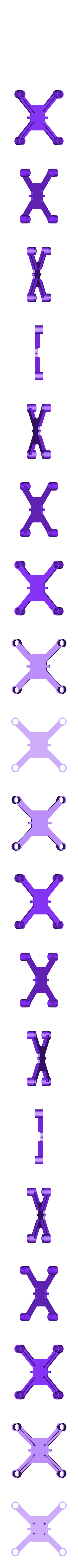 dronedrame_7mm_motors_lite.stl Download free STL file Drone Frame for all motor sizes ! - 6mm,6.5mm,7mm,7.5mm,8mm,8.5mm • 3D printable model, Gophy