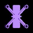 dronedrame_8.5mm_motors.stl Download free STL file Drone Frame for all motor sizes ! - 6mm,6.5mm,7mm,7.5mm,8mm,8.5mm • 3D printable model, Gophy