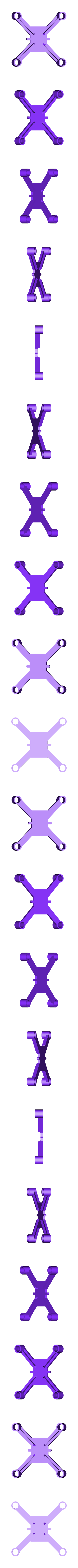dronedrame_8mm_motors_lite.stl Download free STL file Drone Frame for all motor sizes ! - 6mm,6.5mm,7mm,7.5mm,8mm,8.5mm • 3D printable model, Gophy