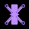 dronedrame_8mm_motors.stl Download free STL file Drone Frame for all motor sizes ! - 6mm,6.5mm,7mm,7.5mm,8mm,8.5mm • 3D printable model, Gophy