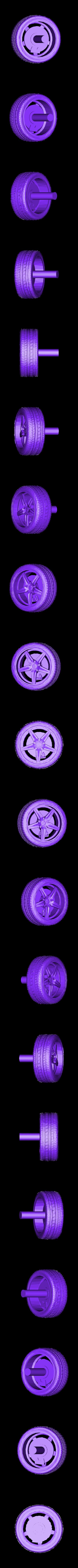 Wheel.stl Download free STL file Ford Mustang GT - Model 1:64 • 3D print model, Gophy