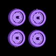 4_Wheels.stl Télécharger fichier STL gratuit Ford Mustang GT - Modèle 1:64 • Modèle à imprimer en 3D, Gophy