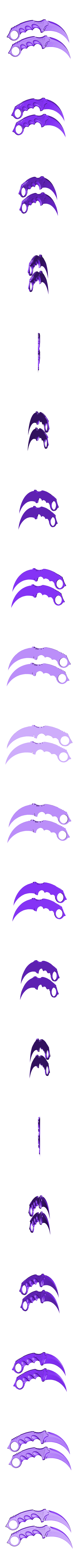 life_size.stl Download free STL file Karambit CS GO : Fixed + Keychain version • 3D printable object, Gophy