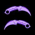 Medium_size.stl Download free STL file Karambit CS GO : Fixed + Keychain version • 3D printable object, Gophy