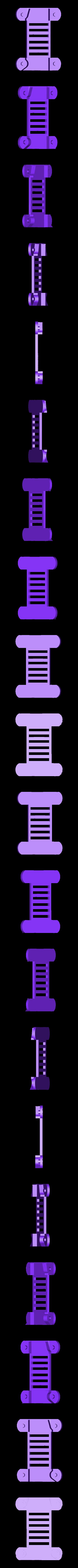 bottom1.stl Télécharger fichier STL gratuit Châssis pliable - moteurs de 7 mm[Pas besoin de vis]. • Design imprimable en 3D, Gophy