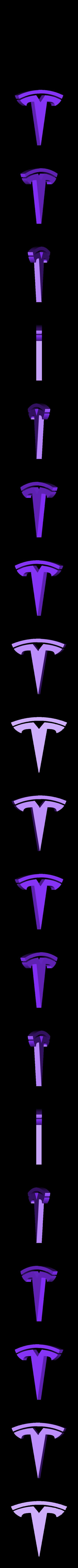logo_only.stl Télécharger fichier STL gratuit TESLA PORTE-CLÉS • Objet imprimable en 3D, Gophy