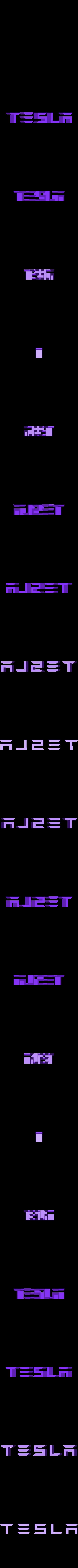 text_only.stl Télécharger fichier STL gratuit TESLA PORTE-CLÉS • Objet imprimable en 3D, Gophy