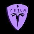 through.stl Télécharger fichier STL gratuit TESLA PORTE-CLÉS • Objet imprimable en 3D, Gophy
