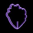 uno.stl Download STL file cut peony flower petal • 3D printing template, Blop3D
