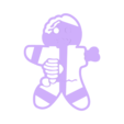GINGERBREAD ZOMBIE 1.stl Download STL file Gingerbread Zombie Cookies Cutter, Cortante de galletas Gingerbread Zombie • 3D printing model, abauerenator